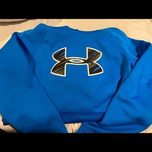 Blue youth under armour hoodie